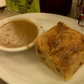 DZ Akins  corned beef knish with gravy